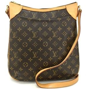 100% Auth  Louis Vuitton Monogram Odeon MM